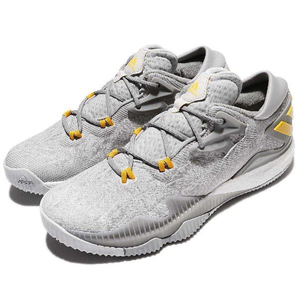 adidas 籃球鞋 Crazylight Boost Low 2016 灰 黃 低筒 避震 男鞋 【PUMP306】 CQ1199