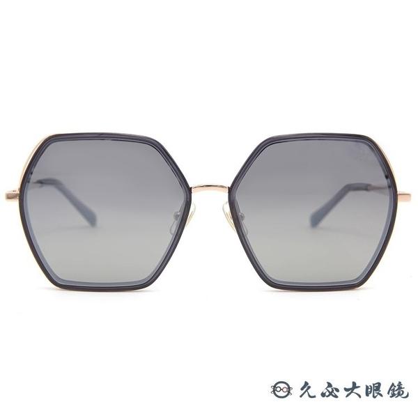 HELEN KELLER 林志玲代言 H8816 (透灰-玫瑰金) 偏光太陽眼鏡 久必大眼鏡