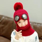 兒童帽子- 兒童帽子秋冬季護耳毛線雷鋒帽男童女寶寶加絨保暖圍巾脖一體 提拉米蘇