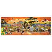 美國 Melissa & Doug 大型地板拼圖 - 非洲草原 100 片