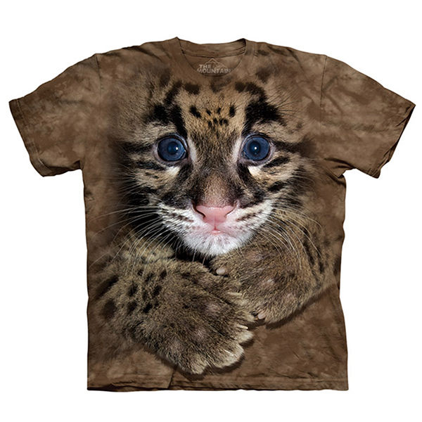 【摩達客】(預購)美國進口The Mountain Smithsonian系列藍眼幼豹 純棉環保短袖T恤