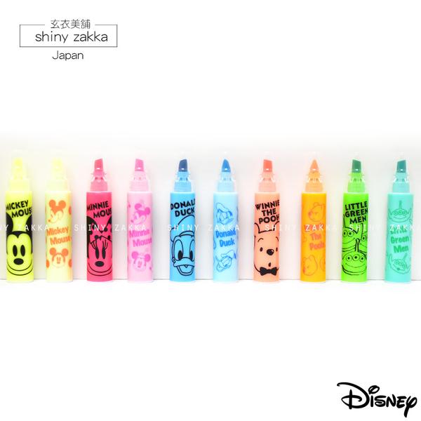 創意文具-日本製 可組合迷你螢光筆-寬扁*10色-玄衣美舖