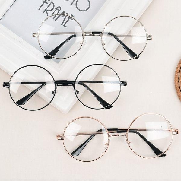 現貨-韓國文藝風格金屬平光鏡框 圓形細框眼鏡框 學院風小圓框 近視 配度數 造型眼鏡 造型框 大
