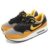 Nike 復古慢跑鞋 Air Max 1 GS 黃 黑 麂皮 氣墊 運動鞋 基本款 女鞋 大童鞋【PUMP306】 807602-007