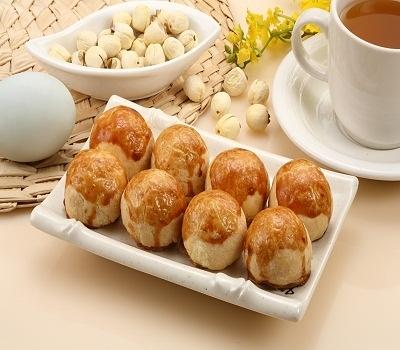 小巧可愛一口酥(蓮子蛋黃) 蛋奶素 12入