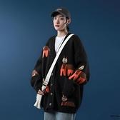 針織外套秋季新款女寬鬆軟糯毛衣卡通開衫上衣【時尚大衣櫥】