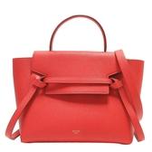 CELINE 賽琳 紅色牛皮手提斜背包 鯰魚包 Micro Belt Bag S-CU-4106【BRAND OFF】