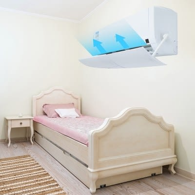 冷氣擋風板月子嬰幼兒防直吹導風罩出風口擋板遮風板掛機防風檔板wy【萌森家居】