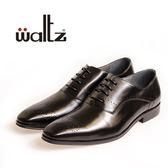 Waltz-英式簡約壓花紳士皮鞋212143-02(黑)