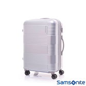 Samsonite新秀麗 24吋Mazon幾何線條PC可擴充TSA海關鎖行李箱(亮銀)