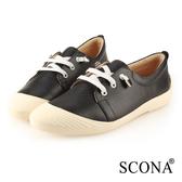 SCONA 蘇格南 全真皮 樂活舒適休閒鞋 黑色 7315-1