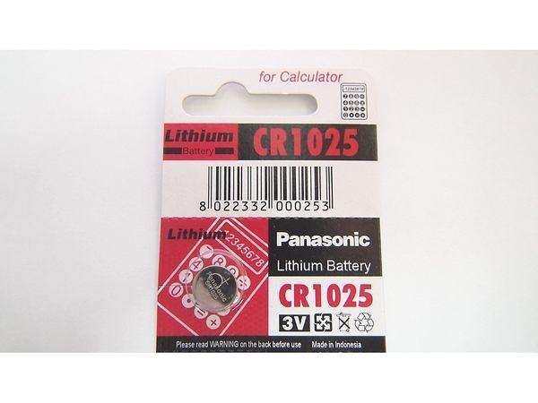 全館免運費【電池天地】PANASONIC 手錶電池 鈕扣電池 鋰電池 CR1025   一顆