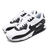 Nike 復古慢跑鞋 Wmns Air Max 90 白 黑 氣墊 運動鞋 基本款 女鞋 男鞋【PUMP306】 325213-139