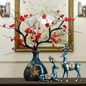 輕奢創意麋鹿花瓶套裝家居擺件客廳玄關櫃台裝飾擺設喬遷新居禮品ATF 青木鋪子