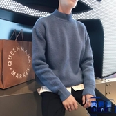 半高領毛衣男韓版潮針織衫加厚套頭外套打底衫【英賽德3C數碼館】