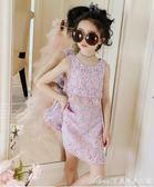 女童洋裝夏裝童裝大童短袖公主裙新款假兩件裙兒童洋氣裙子艾美時尚衣櫥