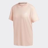 Adidas 3-STRIPES 女款粉色短袖上衣-NO.GH3800