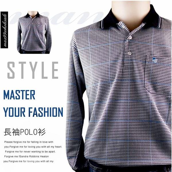 【大盤大】(P91636) 男 現貨 全新 圖案POLO衫 口袋 棉衫 長袖上衣 台灣製 M-XXL 寬鬆 有加大尺碼