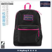 JANSPORT 後背包 43502-1J0  搖滾黑 經典校園背包   撞色拉鍊設計    MyBag得意時袋