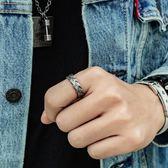 戒指 日韓原創復古戒指男麻花個性單身潮人開口指環對戒鈦鋼飾品尾戒女