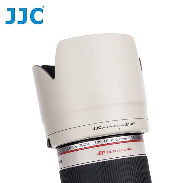 我愛買#JJC副廠Canon遮光罩ET-87遮光罩(白色)可倒裝ET-87蓮花型遮光罩EF 70-200mm f2.8L IS USM II遮罩小白