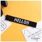 Catworld HELLO黑白運動髮帶【18003435】‧F