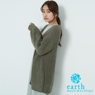 ❖ Hot item ❖ 粗針織開襟罩衫 - earth music&ecology