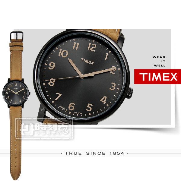TIMEX 天美時/ TXT2N677 / INDIGLO 美國指標玩味復古腕錶 黑x咖啡 42mm