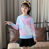 限時8折秒殺毛衣女童毛衣新款中大童棉質不起球針織衫韓版5-8-15歲毛線衣童裝