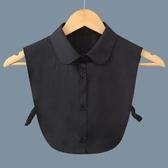 假領子針織外套  圓領素面制服領片襯衫  大學T針織衫外套黑白色[E1291] 預購女裝上衣.朵曼堤洋行
