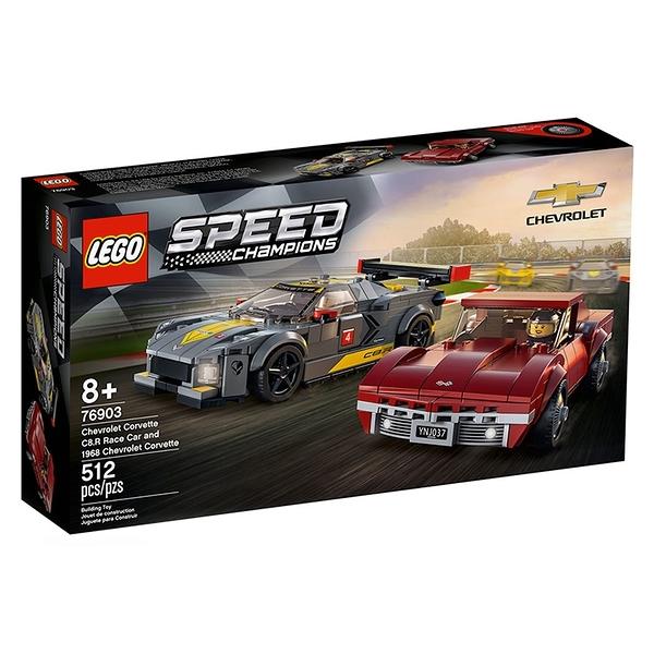 LEGO 樂高 急速賽車系列-Chevrolet Corvette C8.R Race Car and 1968 Chevrole_LG76903