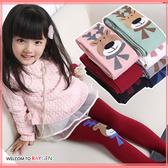 童襪 女童可愛卡通麋鹿針織連褲襪 打底褲