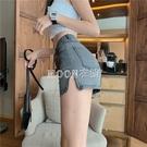 牛仔短褲女春季新款復古高腰修身彈力顯瘦熱褲百搭打底褲子 快速出貨