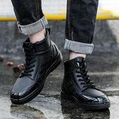 雨鞋男低幫夏季防滑水鞋時尚短筒膠鞋洗車鞋外賣防水鞋男士雨靴  古梵希