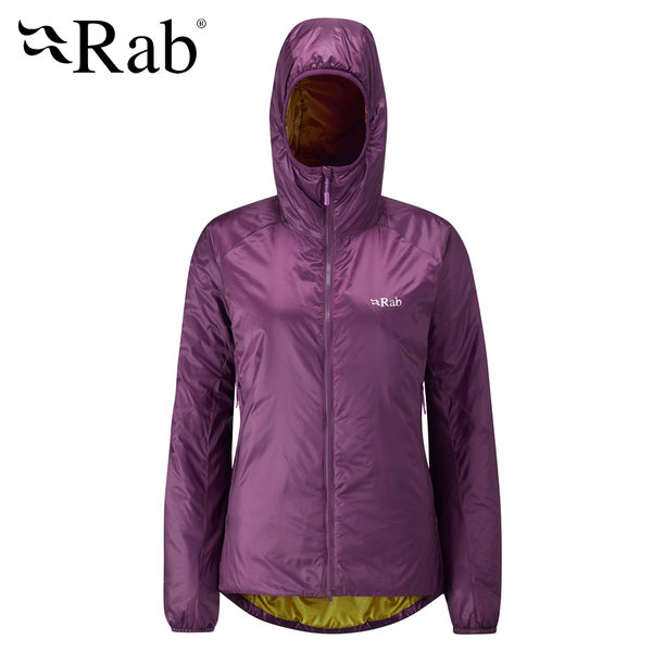 英國RAB Xenon X Hoodie 輕量保暖化纖外套 醬果紫 女 #QIO07