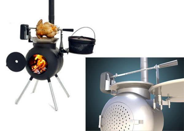 丹大戶外【OzPig】澳洲 黑皮豬專用燒烤達人套件組/烤全雞烤乳豬/室外廚房燒烤爐/取暖爐灶
