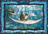 【拼圖總動員 PUZZLE STORY】乘著魟魚 日本進口拼圖/Yanoman/達洋貓/108P/透明塑膠