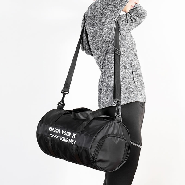 《WEEKEIGHT》防潑水多功能乾濕分離小型圓筒包/運動包/旅行袋