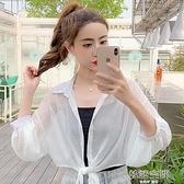 2020夏季新款超仙女純色百搭雪紡防曬開衫短款小披肩外搭薄款外套