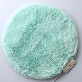 Lourdes圓形絨毛保暖電熱毯墊(湖水綠)65CGN