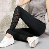 運動褲女新款休閒褲瑜伽寬鬆長褲黑色褲子束腳小腳褲潮 韓慕精品