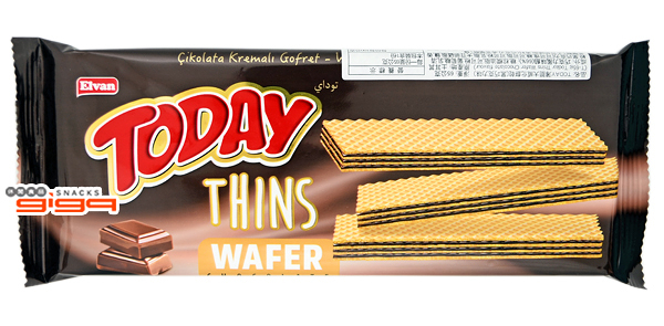 【吉嘉食品】TODAY薄脆大威化餅(黑巧克力) 每包62公克,產地土耳其 [#1]{8695504167797}