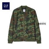 Gap男裝 舒適純棉帆布迷彩短款長袖夾克 281910-迷彩印花