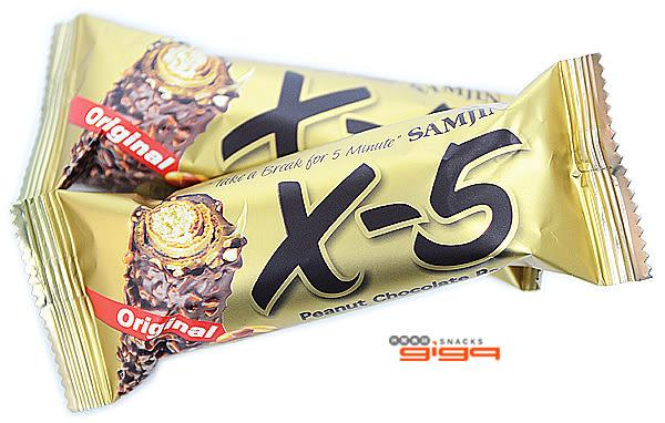 【吉嘉食品】韓國X-5 花生巧克力捲心酥/大條/脆心花生巧克力捲心酥 1條36公克{8809260944886}[#1]