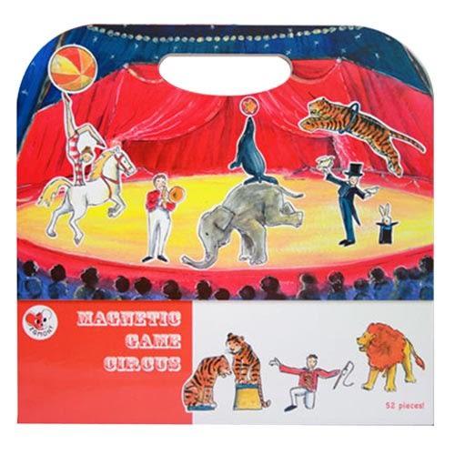 【虎兒寶】比利時 Egmont Toys 艾格蒙繪本風遊戲磁貼書 - 馬戲團