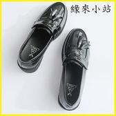 小皮鞋女漆皮英倫黑色單鞋