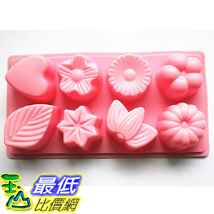[美國直購] Longzang HY1-047 翻糖 蛋糕 模具 8-Cavity Floral Leaf Silicone Cake Soap Decoration Mold
