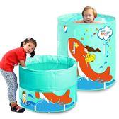 游泳池 漫游寶寶嬰兒游泳池新生幼兒童支架游泳桶大號寶寶家用保溫洗澡桶 維科特3C