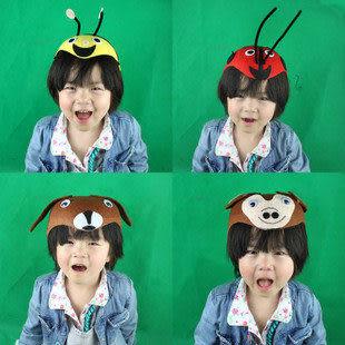 兒童裝扮  親子遊戲表演 無紡布動物帽子
