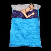 睡袋 戶外雙人睡袋四季通用大人露營情侶防寒冬季加厚便攜室內成人旅行 夢藝